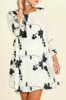 Umgee USA Black Flower Dress