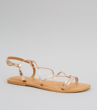 New Look Leather Strappy Flat Sandals