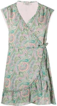 AllSaints Paisley Print Wrap Dress