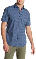 Toscano Short Sleeve Abstract Mini Splatter Shirt