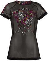 Versace Gym mesh T-shirt - women - Polyamide/Polyester/Spandex/Elastane - 2
