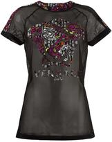 Versace Gym mesh T-shirt - women - Polyamide/Spandex/Elastane/Polyester - 2