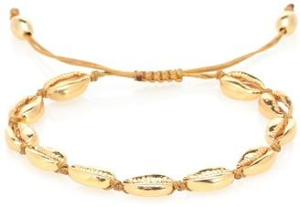 Puka Tohum Design Shell 22kt gold-plated bracelet