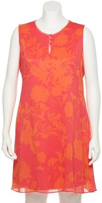 Chaps Plus Size Sleeveless Trapeze Dress