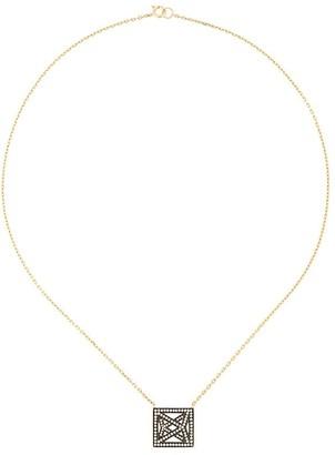 Noor Fares Trompe L'oeil Octahedron necklace