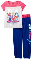 "DC Superhero Girls Little Girls' ""Just Be Awesome"" 2-Piece Pajamas"