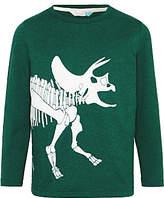 John Lewis Boys' Dinosaur Graphic Glow In The Dark T-Shirt, Green