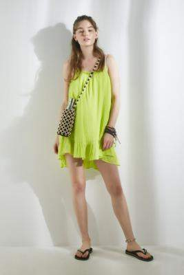 Urban Outfitters Nellie Easy Mini Dress - green XS at