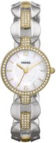 Fossil Women's ES3018 Silver Stainless-Steel Analog Quartz Watch with Dial