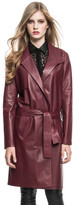 LAMARQUE - Portia Leather Trench In Burgundy
