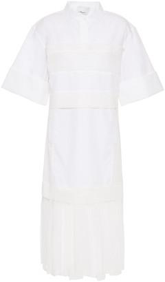 3.1 Phillip Lim Pleated Cotton-blend Poplin And Gauze Midi Dress