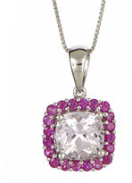 JCPenney FINE JEWELRY LIMITED QUANTITIES Cushion-Cut Genuine Kunzite and Pink Sapphire Pendant Necklace