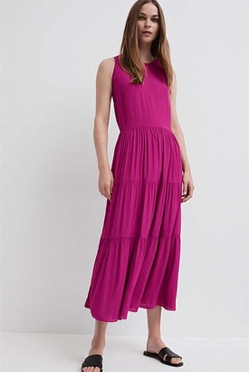 Witchery Tiered Crepe Dress