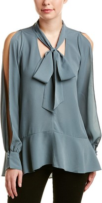French Connection Women's Classic Crepe Light Woven Bow Top