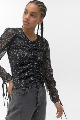Urban Outfitters The East Order Casi Floral Top - black S at
