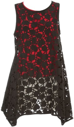 Maria Calderara Dress W/s Lasercut Opaque Taffeta Georgette