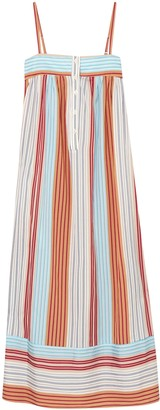 Paul & Joe Striped Canvas Midi Dress