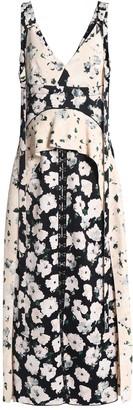Proenza Schouler Ruffled Floral-print Crepe Midi Dress