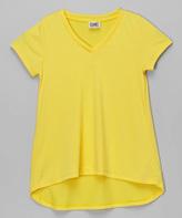 Erge Yellow Hi-Low V-Neck Tee - Girls