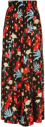 Traffic People Mustique Maggie Wide Leg Palazzo Trousers In Floral Print
