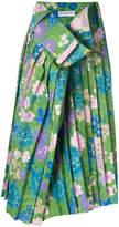 Balenciaga Tubular floral print skirt