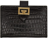 Givenchy Black Croc GV3 Card Holder