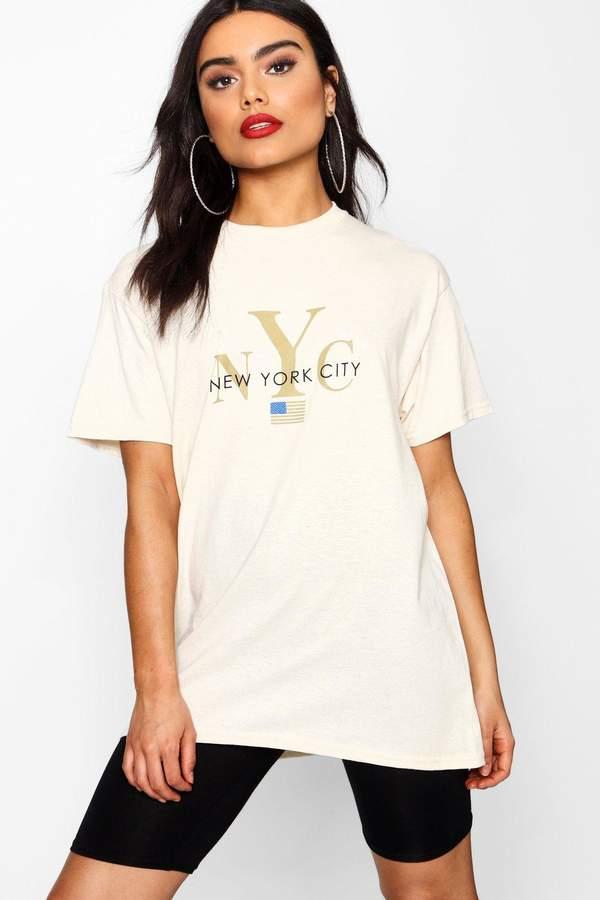 boohoo New York City Slogan T-Shirt