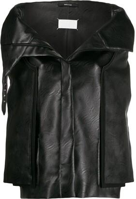 Maison Margiela cocoon faux leather jacket