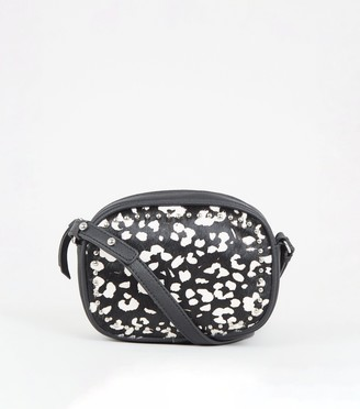 New Look Leather Leopard Print Camera Bag