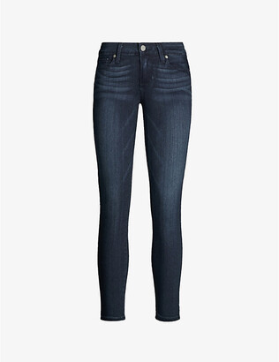 Paige Denim Women's Mid Lake Verdugo Ultra-Skinny Cropped Mid-Rise Jeans, Size: 23