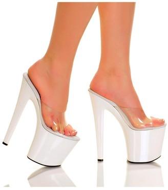 "The Highest Heel Fantasy 7.5"" Heel Clear Vinyl Upper Platform Sandal"