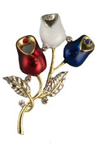 Stars & Stripes Products Patriotic Rosebud Brooch/Pin