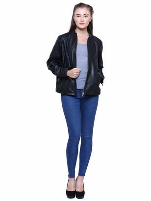 Albapelle Women's Plus Size Leather Jacket