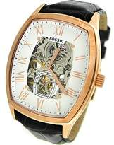 Fossil Men's Ansel ME3024 Black Leather Quartz Watch with Dial