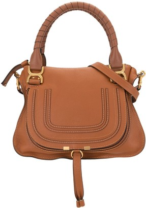 Chloé Contrast-Stitching Crossbody Bag
