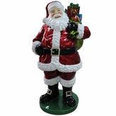 Asstd National Brand 63 Commercial Grade Standing Santa Claus with Presents Fiberglass Christmas Decoration