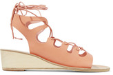 Ancient Greek Sandals Antigone Lace-up Leather Wedge Sandals - IT41