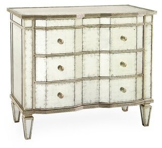 John-Richard Collection Eglomise 3-Drawer Accent cabinet