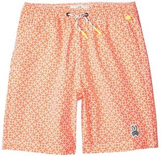 Psycho Bunny Kids Swinley Swim Trunks (Toddler/Little Kids/Big Kids) (Diva Pink) Boy's Swimwear