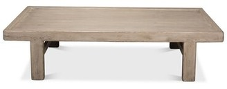 Sarreid Ltd. Large Wood Panel Coffee Table Color: Gray