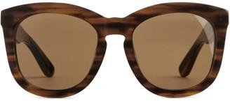 Arket Tortoise Shell Oversized Sunglasses