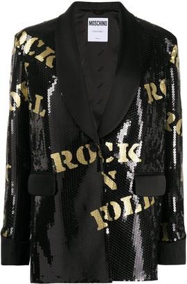 Moschino Rock n' Roll sequin-embellished blazer