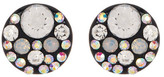 Betsey Johnson Round Rhinestone Accented Stud Earrings
