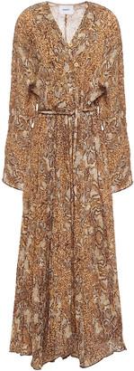 Nanushka Chul Printed Crinkled-crepe Maxi Dress