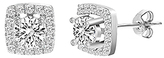 Bliss Sterling Silver & Cubic Zirconia Halo Stud Earrings