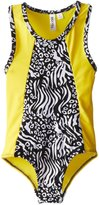 Big Chill Little Girls' Animal Athletic One Piece