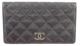 Chanel Patent Leather Yen Wallet