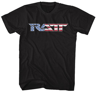 American Classics Tee Shirts BLACK - Ratt Black Flag Logo Tee - Adult