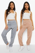 Thumbnail for your product : boohoo Petite Two Pack Boyfriend Joggers
