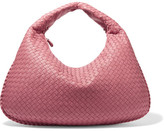 Bottega Veneta Veneta Large Intrecciato Leather Shoulder Bag - Pink